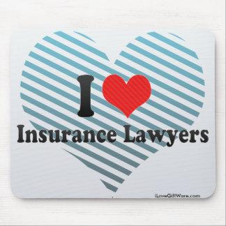 I Love Insurance Lawyers Mousepads