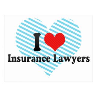 I Love Insurance Lawyers Postcard