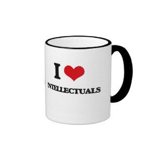 I love Intellectuals Ringer Mug