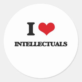 I love Intellectuals Round Sticker