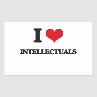 I love Intellectuals Rectangular Sticker