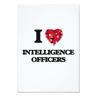 I love Intelligence Officers 9 Cm X 13 Cm Invitation Card