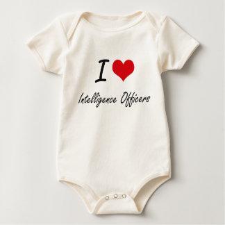 I love Intelligence Officers Baby Bodysuits