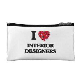 I love Interior Designers Cosmetic Bag