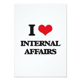"I Love Internal Affairs 5"" X 7"" Invitation Card"