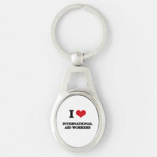 I love International Aid Workers Keychains