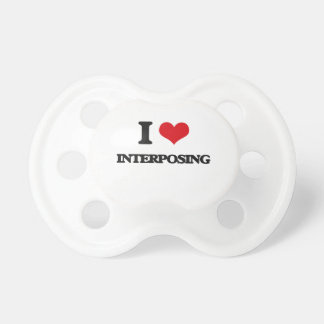 I Love Interposing BooginHead Pacifier