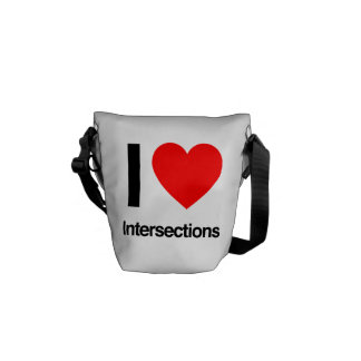 i love intersections courier bag