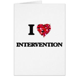 I Love Intervention Greeting Card