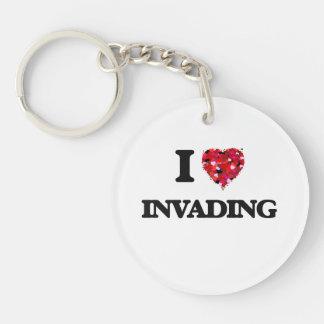 I Love Invading Single-Sided Round Acrylic Key Ring