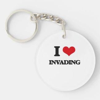 I Love Invading Keychains