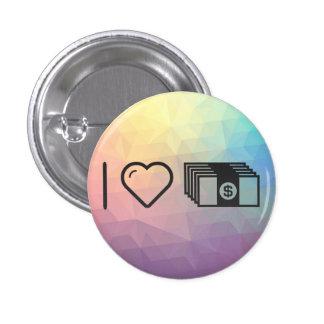 I Love Investing Moneys 3 Cm Round Badge