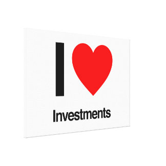 i love investments canvas print