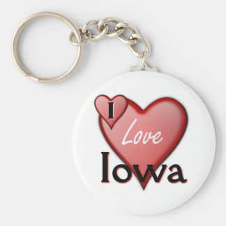 I Love Iowa Key Ring