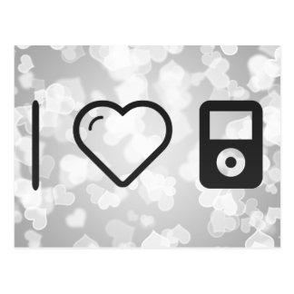 I Love Ipods Postcard