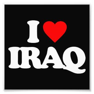 I LOVE IRAQ ART PHOTO