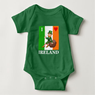 I Love Ireland Baby Bodysuit