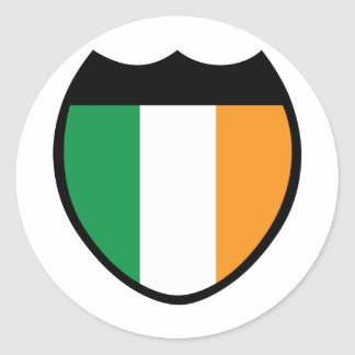 I Love Ireland Classic Round Sticker