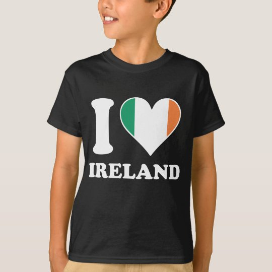 I Love Ireland Irish Flag Heart T-Shirt