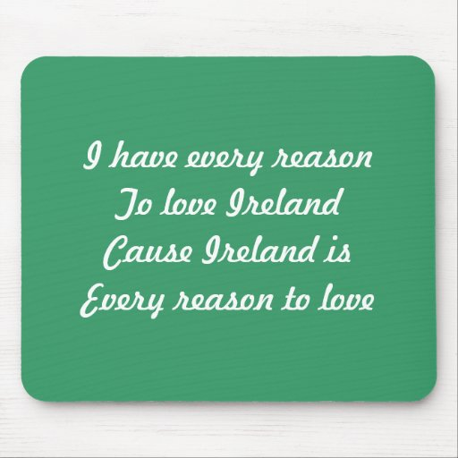 I love Ireland Mousepads