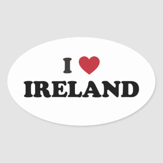 I Love Ireland Oval Sticker