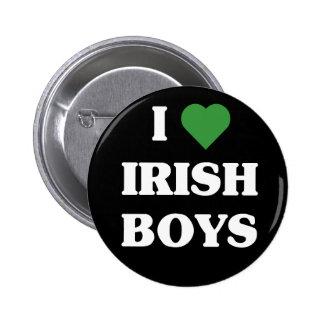 I Love Irish Boys button