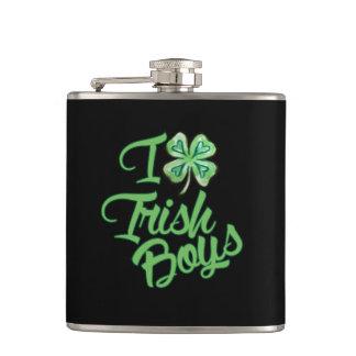 I love Irish Boys Hip Flask