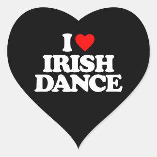 I LOVE IRISH DANCE HEART STICKER