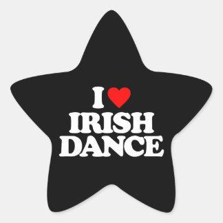I LOVE IRISH DANCE STAR STICKER