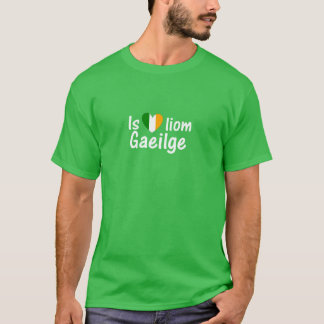 I Love Irish Gaeilge Gaelic Men T Shirt Dark