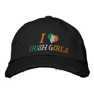 I Love Irish Girls Embroidered Baseball Cap