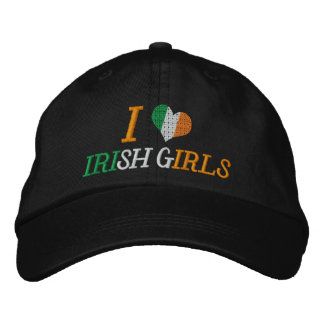 I Love Irish Girls Embroidered Hat