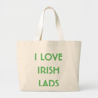 I LOVE IRISH LADS LARGE TOTE BAG