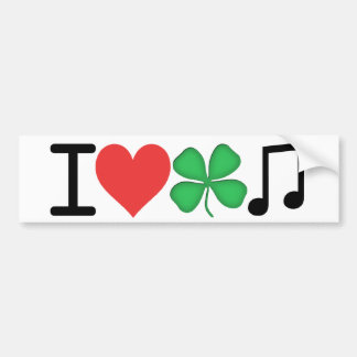 I Love Irish Music Bumper Sticker