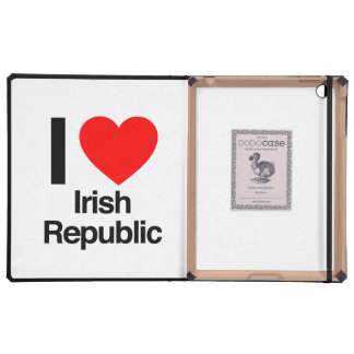 i love irish republic iPad folio cover