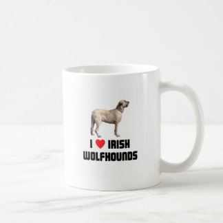 I Love Irish Wolfhounds Coffee Mug