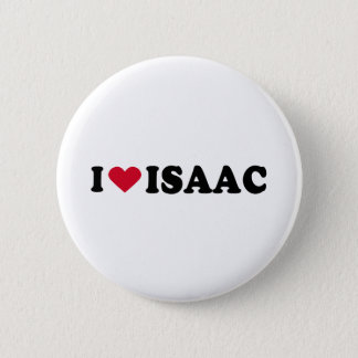 I LOVE ISAAC 6 CM ROUND BADGE