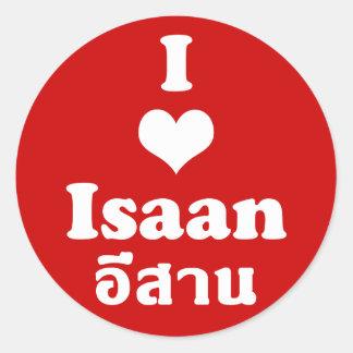 I Love Isaan ❤ Thailand Round Sticker