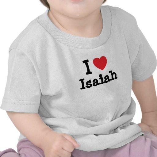 I love Isaiah heart custom personalized Shirt
