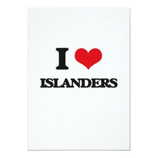 "I Love Islanders 5"" X 7"" Invitation Card"