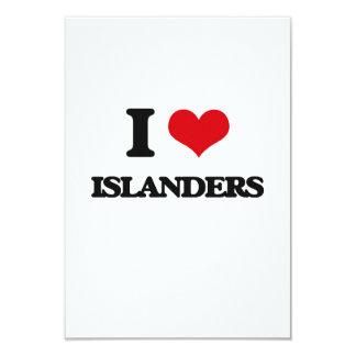 "I Love Islanders 3.5"" X 5"" Invitation Card"