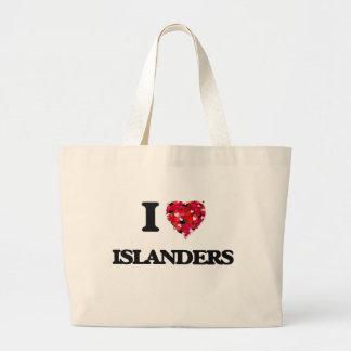 I Love Islanders Jumbo Tote Bag