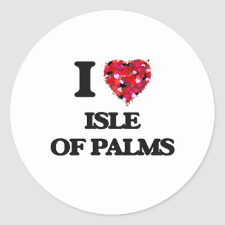 I love Isle Of Palms South Carolina Classic Round Sticker