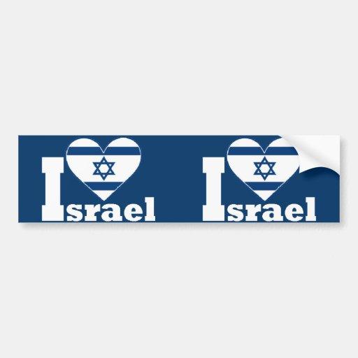 I Love Israel Bumper Sticker