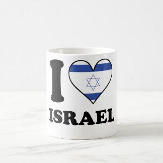 I Love Israel Israeli Flag Heart Coffee Mug