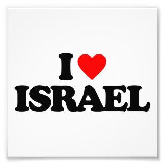 I LOVE ISRAEL ART PHOTO