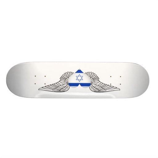 I Love Israel -wings Skateboard Deck