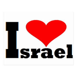 I love Israel - with large red heart Postcard