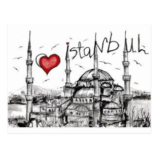 I love Istanbul Postcard