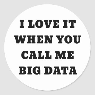 I Love it when you Call Me Big Data Classic Round Sticker